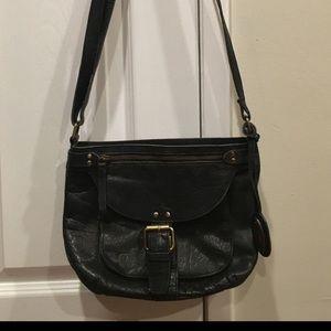 Born black leather bag